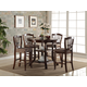New Classic Bixby 5pc Counter Dining Table Set in Espresso