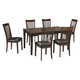 Mallenton 7-Piece Rectangular Dining Table Set in Medium Brown D411-425