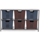 Metal Accent Cabinet in Gray B087-040