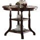 New Classic Bixby Counter Dining Table in Espresso D2541-12