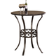 Hillsdale Furniture Brescello Bar Height Bistro Table in Antique Pewter
