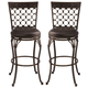 Hillsdale Furniture Brescello Swivel Bar Stool in Antique Pewter (Set of 2)