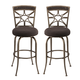 Hillsdale Furniture Chandler Swivel Barstool in Black Pewter (Set of 2)