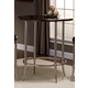 Hillsdale Furniture Maddox Bar Height Bistro Table in Antique Nickel 5174-840