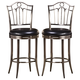 Hillsdale Furniture Portland Swivel Stool in Antique Pewter (Set of 2)