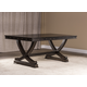 Hillsdale Furniture Santa Fe Trestle Dining Table in Espresso 5890-810