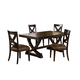 Hillsdale Furniture Santa Fe 5Pc Trestle Dining Set in Espresso