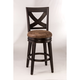 Hillsdale Furniture Santa Fe Swivel Counter Stool in Espresso (Set of 2)