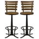 Hillsdale Furniture Westview Swivel Bar Stool in Dark Silver (Set of 2)