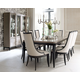 Legacy Classic Symphony 7-Piece Rectangular Dining Set in Platinum & Black Tie