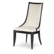 Legacy Classic Symphony Upholstered Side Chair in Platinum & Black Tie (Set of 2)