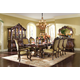 AICO Chateau Beauvais 9-Piece Rectangular Dining Set in Noble Bark