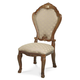 AICO Cortina Side Chair in Honey Walnut N65003-28 (Set of 2)