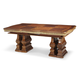 AICO Cortina Rectangular Dining Table in Honey Walnut