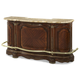 AICO Cortina Marble Top Bar in Honey Walnut CLEARANCE