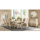 AICO Chateau De Lago 9-Piece Rectangular Dining Set in Blanc