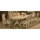 AICO Lavelle 11-pc Palatial Oval Dining Table Set in Blanc