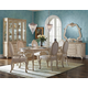 AICO Lavelle Cottage 7-Piece Oval Dining Set in Blanc
