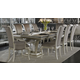 AICO Hollywood Swank 9-pc Leg Dining Table Set in Pearl Caviar