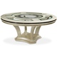 AICO Hollywood Swank Round Dining Table in Pearl Caviar