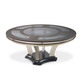 AICO Hollywood Swank Round Dining Table in Caviar
