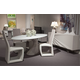 AICO Trance Cosmo 4pc Oval Dining Set in Off-White