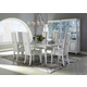 AICO Sky Tower 7pc Rectangular Dining Set in White Cloud