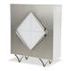 AICO Trance Matrix Display Cabinet in White TR-MATRX009