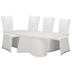 AICO Trance Matrix 5pc Dining Set in White
