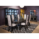 AICO Sky Tower 7pc Rectangular Dining Set in Black Ice