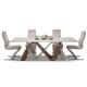 AICO Trance Rapture 5pc Rectangular Dining Set