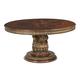 AICO Villa Valencia Round Dining Table in Classic Chestnut 72001-55