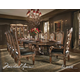 AICO Villa Valencia 9-pc Rectangular Table Set in Classic Chestnut