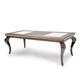 AICO Hollywood Loft Rectangular Leg Dining Table in Ganache 9001600-401