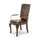 AICO Hollywood Loft Arm Chair in Ganache (Set of 2)