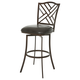 Pastel Furniture Milazzo Swivel Barstool in Coffee Brown MZ-219-26-CF-943 (Set Of 2)