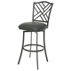 Pastel Furniture Milazzo Swivel Barstool in Matte Gray MZ-219-26-SG-064 (Set Of 2)