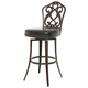 Pastel Furniture Orbit Swivel Barstool in Coffee Brown OB-219-26-CF-943 (Set Of 2)