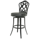 Pastel Furniture Orbit Swivel Barstool in SF Matte Black OB-219-26-SB-064 (Set Of 2)