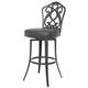Pastel Furniture Orbit Swivel Barstool in SF Matte Gray OB-219-26-SG-064 (Set Of 2)