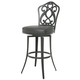 Pastel Furniture Orbit Swivel Barstool in SF Matte Gray OB-219-30-SG-064 (Set Of 2)