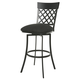 Pastel Furniture Valley Falls Swivel Barstool in SF Matte Gray VF-219-26-SG-DF-658 (Set Of 2)