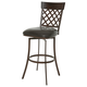 Pastel Furniture Valley Falls Swivel Barstool in Coffee Brown VF-219-26-CF-MN-943 (Set Of 2)