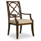 Hooker Furniture Skyline Fretback Arm Chair in Cathedral Cherry (Set of 2)