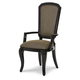 Aico After Eight Arm Chair in Black Onyx (Set of 2) 19004-88