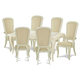 Aico After Eight 7pc Leg Rectangular Dining Set in Pearl Croc
