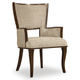 Hooker Furniture Skyline Upholstered Arm Chair in Cathedral Cherry (Set of 2)