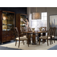 Hooker Furniture Skyline 7pc Trestle Dining Room Set in Cathedral Cherry