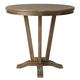 Pastel Furniture Devon Coast Round Pub Table in Distressed Charcoal DC-520-DI