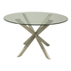 Pastel Furniture Eritrea Round Dining Table in Steel ER-510-SS